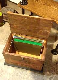 hanging file box. Hanging File Box With Lid Holder Wood On F