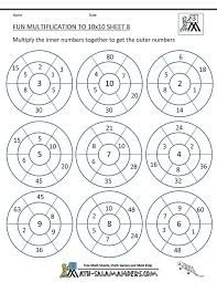 4 Times Table Worksheet Fun - Table Designs