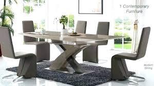 full size of modern glass dining table sets toronto modrest barium contemporary black extendable set room