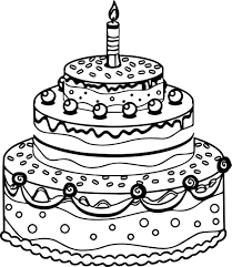 Small Picture Cute Birthday Cake Coloring Page Wecoloringpage