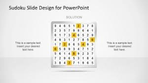 Sudoku Powerpoint Template Slidemodel