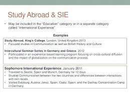 How To Put Study Abroad On Resume Study Abroad Resume Resume Ideas Interesting How To Put Study Abroad On Resume