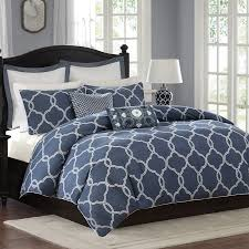 griffin denim blue duvet cover set