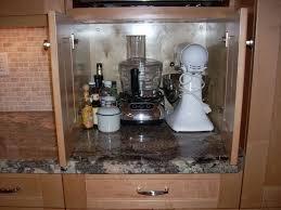 Appliance Garages Kitchen Cabinets 53 Cherry Corner Cabinet With Appliance Garage Homes Design