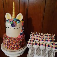 Unicorn Cake And Cake Pops Baking