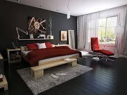 Modern Bedroom with dark floor.