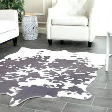 grey and white striped rug grey and white area rug faux hide hand tufted gray white