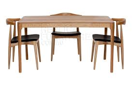 replica danish table distressed wood with elbow chairs