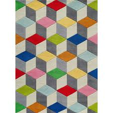 mainstream multi color area rugs rubic cube rug