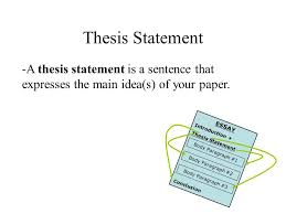Thesis Statement Ppt Video Online Download