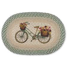 vintage bicycle braided jute rug