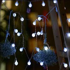 whole 4m 40leds holiday fairy battery operated light crystal ball flashing led string lights for wedding garland decoration outdoor string
