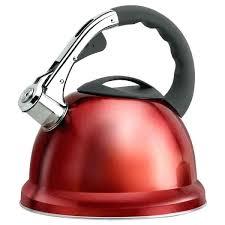quart snless steel whistling tea kettle red electric gl 2 electric tea kettle red