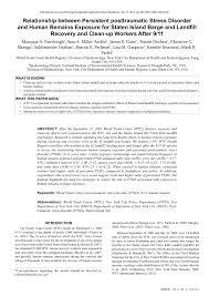 Health Study Of New York City Department Of Sanitation