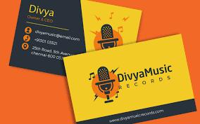 Visiting Cards Music Visiting Card Visiting Card Design For Musicians 3