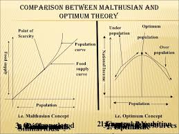 comperative study about optimum and malthusian theory of population  population i e optimum concept 11 comparison between malthusian and optimum theory