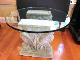 coffee table base ideas wooden table bases for glass tables classy pedestal table base ideas wooden