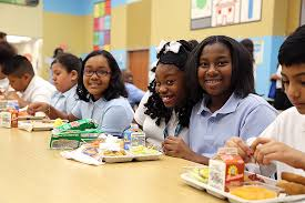 Image result for high school cafeteria tables with kids