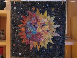 Sun Face..collage/quilt | QUILTING | Pinterest | Face collage and ... & Sun Face..collage/quilt Adamdwight.com