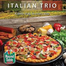 round table pizza italian trio is delicious