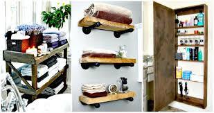 Unique diy bathroom ideas using wood Toilet Diy Crafts 50 Unique Diy Bathroom Storage Ideas You Must Try Diy Crafts