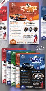 Free Car Wash Flyers Designs Car Wash Services Promotional Flyer Psd Bundle Psdfreebies Com