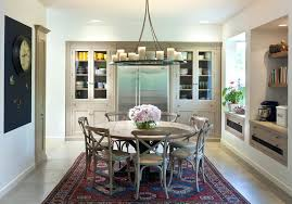 image of what size rug under 60 inch round table dining