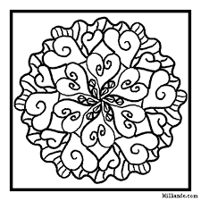 Small Picture Mosaic Valentine Coloring Pages Mandala coloring Free coloring