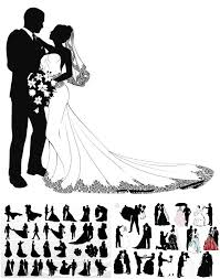 122 best wedding invitations, cards, backgrounds images on Michael Kors Wedding Invitations wedding couple silhouettes in different poses for invitation cards and postcard in archive 3 files Walmart Wedding Invitations