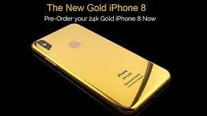 iphone 8 gold. 24 carat gold plated iphone 8 starts at $50,000 iphone