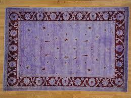 7 x 10 purple overdyed peshawar 100 wool hand knotted oriental rug sh22349