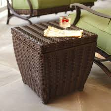 hampton bay brown outdoor side tables patio the home end table storage pembrey ikea king coffee
