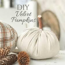 diy velvet pumpkins in no less than 10 minutes