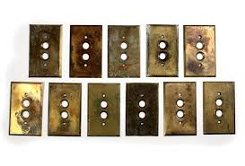 copper light switch covers harlequin tarnished plates outlet hammered t29