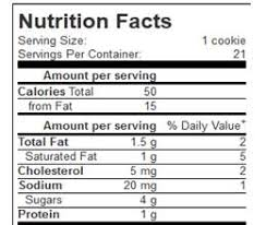 quicker weight loss cookies nutrition nutrition facts