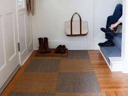 create a custom rug with easy to install natural flooring tiles