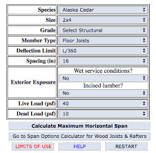 Dimensional Lumber Span Chart Deck 79 Expert Pan Deck Span Chart