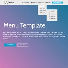 pages menu template free html bootstrap 4 menu template