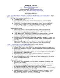 Librarian Resume Academic Sample Cover Letter Library Objective