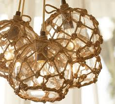 lucky old sun ranch lantern and rope chandelier pottery barn