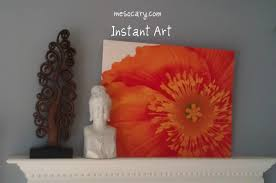 on foam board diy wall art with instant art