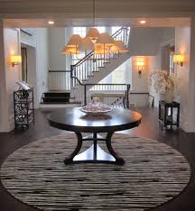 round foyer entry tables