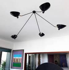 ref par5b ceiling lamp spider 5 still arms serge mouille
