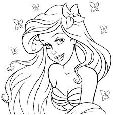 Creative Ideas The Little Mermaid Coloring Pages Printable Ariel
