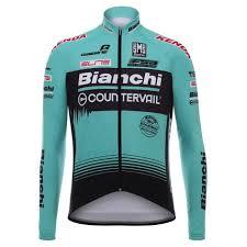 2019 Bianchi Mtb Green Long Sleeve Cycling Jersey Teal Green