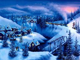 christmas town wallpaper. Beautiful Christmas Night In Christmas Town Wallpaper Computer  Inside Wallpaper