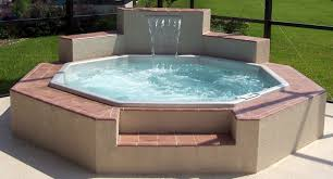 unique hot tub above ground pools can be combined with ceramics materials can add the natural