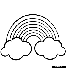 Small Picture Rainbows Coloring Page Free Rainbows Online Colo