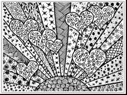 Heart Adult Coloring Pages Colored Download 4 J With Adult Coloring