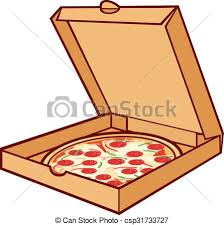 open pizza box with pizza. Modren Open Pizza On Cardboard Pizza In Box  Csp31733727 For Open Pizza Box With A